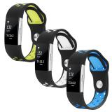 3 Pack Soft Silicone Replacement Adjustable Sport Strap For Fitbit Charge 2 Hr Heart Rate Fitness Wristband Intl Lowest Price
