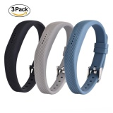 Sale 3 Pack Soft Silicone Replacement Colorful Strap Band With Adjustable Metal Clasp For Fitbit Flex 2 Intl China