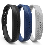 3 Pack Soft Silicone Replacement Colorful Strap Band With Adjustable Metal Clasp For Fitbit Flex 2 Intl Review