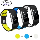 Coupon 3 Pcs Soft Silicone Adjustable Fashion Sport Strap For Fit Bit Charge 2 Replacement Fitness Accessory Wristband With Hole Intl