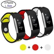 Where To Shop For 3 Pcs Soft Silicone Adjustable Fashion Sport Strap For Fit Bit Charge2 Replacement Fitness Accessory Wristband With Hole Intl