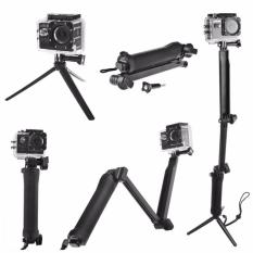 3a2d9bfeb54e70 3 Way Selfie Stick Hand Grip Monopod Tripod Stand Extension Pole for GoPro  Hero 7 6