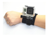 Review 360 Degree Rotation Wrist Band With Lock For Action Cam Suitable For Gopro Sjcam On Singapore