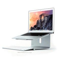 360-Rotating Aluminum Alloy Laptop Desktop Mount Stand for MacBook Notebook - intl