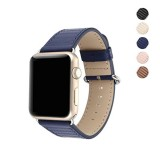 Sales Price 38Mm Genuine Leather Replacement Band With Classic Metal Adapter Clasp Single Tour For Apple Watch Series 3 Series 2 Series 1 Nike Hermes Edition