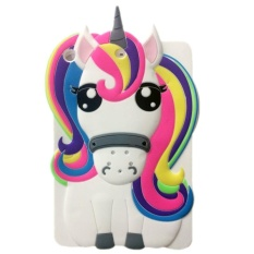 Wholesale 3D Cute Cartoon Unicorn Silicone Back Case Cover For Apple Ipad Mini 2 3 4 Intl
