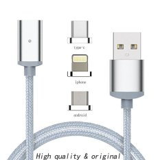 Price 3In 1 Fast Charging Data Sync Newest 1M Nylon Magnetic Cable Micro Usb C Charger Foriphone 5 6 6S 7 7Plus Android Type C Phone Intl Oem Original