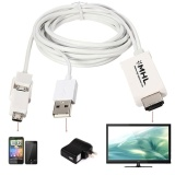 Low Cost 3M Micro Usb Mhl To Hdmi Hdtv Cable Adapter For Android Smart Phone 5 11Pin Intl