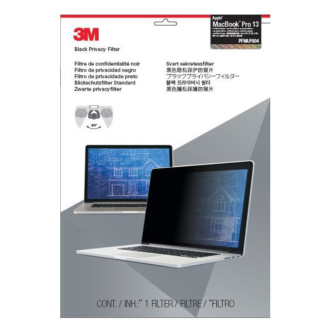 3m Privacy Filter For Apple® Macbook® Pro 13 Inch - Black - For Retina Display - Pfnap004 By 3m Official Store.
