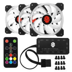 3Pcs 1800Rpm Rgb Led Quiet Computer Case Pc Cooling Fan 120Mm Remote Controller Intl Compare Prices