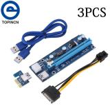How To Buy 3Pcs Pci E Express 1X To 16X Usb 3 Powered Extender Riser Adapter Graphics Card With Sata Cable Intl