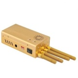 Buy 4 Bands Cell Phone Signal Jammer 3G Gsm Wifi Wmj 04B Gold Intl Oem