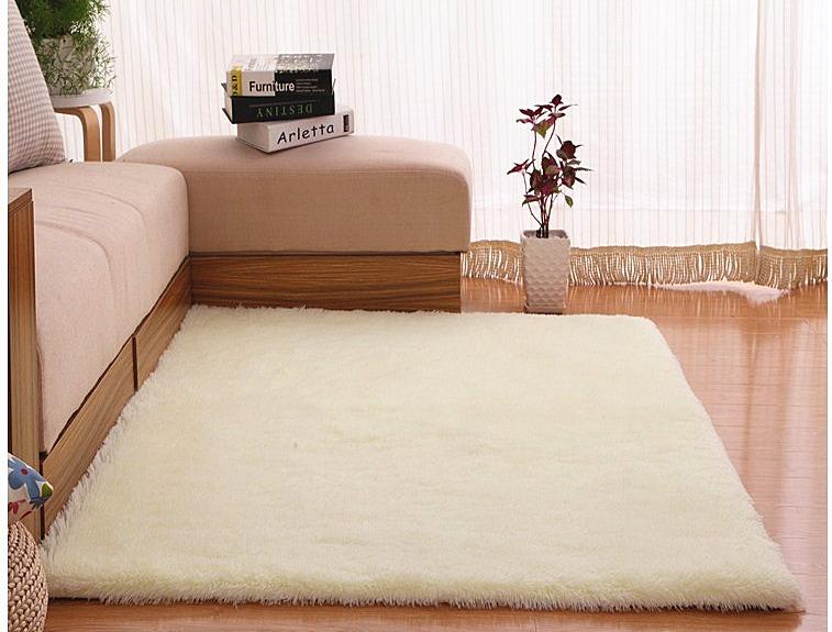 Buy 4 Cm Silk Hair Living Room Coffee Table Bedroom Carpet Off White Intl Cheap China