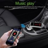New 4 In 1 Hands Free Wireless Bluetooth Fm Transmitter G7 Aux Modulator Car Kit Mp3 Player Sd Usb Lcd Car Accessories(Black) Intl