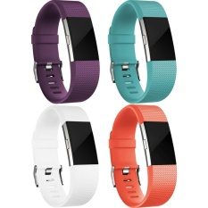 Buy 4 Pack Multi Colors Soft Silicone Adjustable Replacement Sport Strap Band For Fitbit Charge 2 Wristband Intl Oem Original
