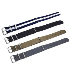 4 Pcs 4 Colors Fashion Colored Woven Nylon Fabric Replacement Wrist Watch Band Strap Bracelet Belt With Stainless Steel Buckle Clasp 22mm Width - Intl By Stoneky.