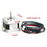 Brand New 4 Wire Whith Cable Nema 17 Stepper Motor 32N M For 3D Printer 1 5A 17Hd34008 22B Silver Intl