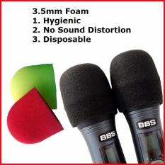 The Cheapest 60 Disposable Microphone Foam Microphone Cover 3 5Mm Red And Yellow Or Black Online
