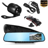 Buy 4 Hd 1080P Car 120° Wide Angle Video Camera Dash Reverse Mirror Recorder Intl Oobest Online