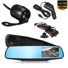 4 Hd 1080P Car 120° Wide Angle Video Camera Dash Reverse Mirror Recorder Intl Coupon