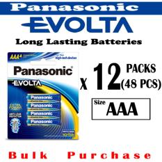 Price Compare 48 Piece Panasonic Evolta Aaa Batteries 12 Set Pack Of 4 Blister Pack