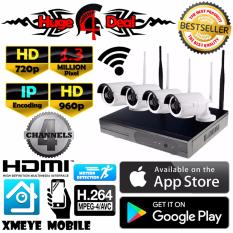 Get Cheap 4Ch Ip Wifi Cctv Kit Set 4 Bullet Cameras 1 3 Mp Hd 720P 960P Latest Infrared 3 6Mm Lens 4Ch Hd Nvr Wi Fi Wireless Free Adapter Free Camera Bracket