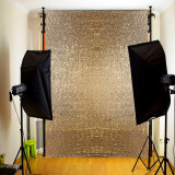 Review 4X6Ft Gold Sequin Photo Backdrop Wedding Photo Booth Wall Photography Background Intl Oem