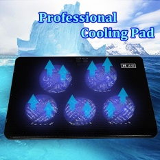 5 Fans LED USB Port Cooling Stand Pad Cooler For 12-17 Laptop Notebook - intl