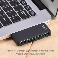 5-in-1 USB 3.0 to TF / SD Card Reader 2-Port USB Hub Adapter for Surface Book Laptop Computer - intl