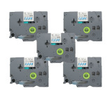 5 Pack Blue On Clear Label Tape Compatible For Brother P Touch Tz 133 Tze 133 12Mm 1 2 Intl For Sale