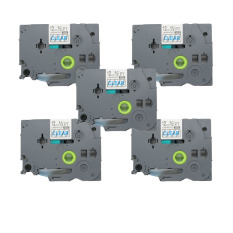 Discount 5 Pack Blue On Clear Label Tape Compatible For Brother P Touch Tz 133 Tze 133 12Mm 1 2 Intl