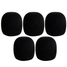 5 Pcs Handheld Stage Microphone Windscreen Protection Sponge Foam Cover Shield Black By Stoneky.