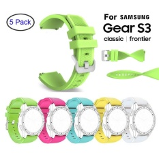 5 Pcs Silicone Bracelet Strap Watch Band For Gear S3 Frontier Classic 22Mm Intl On Line