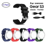 Brand New 5 Pcs Silicone Bracelet Strap Watch Band For S Msung Gear S3 Frontier Classic 22Mm Intl