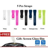 Price 5 Pcs Sports Silicone Bracelet Strap Band For Samsung Gear S3 Classic S3 Frontier Intl Oem Original