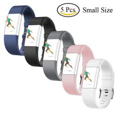 Price 5 Pcs Sports Silicone Bracelet Strap Band Small Size 5 1 7 6 130Mm 193Mm For Fitbit Charge 2 Smart Watch Intl Oem New