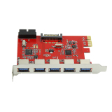 5 Port Pci E Pci Express To Usb3 Hub Card Adapter With 20Pin For Win 7 8 Xp Best Price