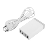 Buy 5 Ports Usb Charger Quick Charging Station With Power Cable Multi Port Eu Plug White Intl Online China