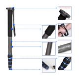 Best 5 Section Telescopic Carbon Fiber Lightweight Photography Dslr Camera Monopod Unipod Walking Stickfor Nikon Canon Pentax Olympus Elders Intl