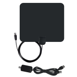 Best 50 Miles Range F Male Connector Ultra Thin Digital Indoor Tv Hdtv Antenna With High Signal Capture Of Coaxial Cable Signal Amplifier