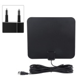 Best Price 50 Miles Range High Gain Indoor Amplified Digital Tv Hdtv Antenna With 16Ft Cable Eu Plug Intl