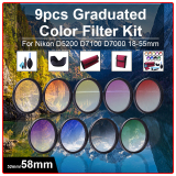 How To Buy 58Mm 9Pcs Grad Graduated Color Filter Kit Cleaning Kit For Dslr Camera