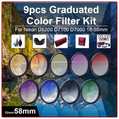 Deals For 58Mm 9Pcs Grad Graduated Color Filter Kit Cleaning Kit For Dslr Camera