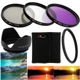 58Mm Filter Set Uv Cpl Fld Nd2 Nd4 Nd8 Lens Hood Cap For Canon 18 55Mm Free Shipping