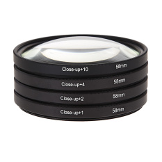 Review 58Mm Macro Close Up Lens Filter Kit 1 2 4 10 For Canon Eos 650D 600D 18 On China