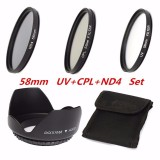 Where To Buy 58Mm Uv Cpl Nd4 Circular Polarizing Filter Kit Set Lens Hood For Canon Camera Intl
