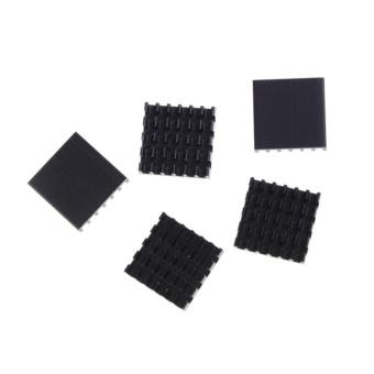 5pcs Aluminum Black Heat Sink For LED Power Memory Chip 19*19*5mm