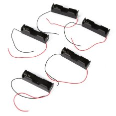 5pcs Plastic Battery Holder Storage Box for 1x 18650 Battery With Wire Leads - intl
