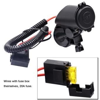 5V 4.2A Dual USB Charger Socket Adapter Power Outlet for 12V 24V Motorcycle Car