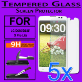 5X Accessories For Lg D680D686G Pro Lite Tempered Glass Screen Protector Intl Promo Code